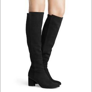 Stuart Weitzman Sz 10 Black Leather Knee High Boot